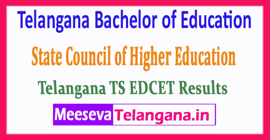 EDCET Telangana Bachelor of Education State Council of Higher Education TS EDCET Results 2018 Download