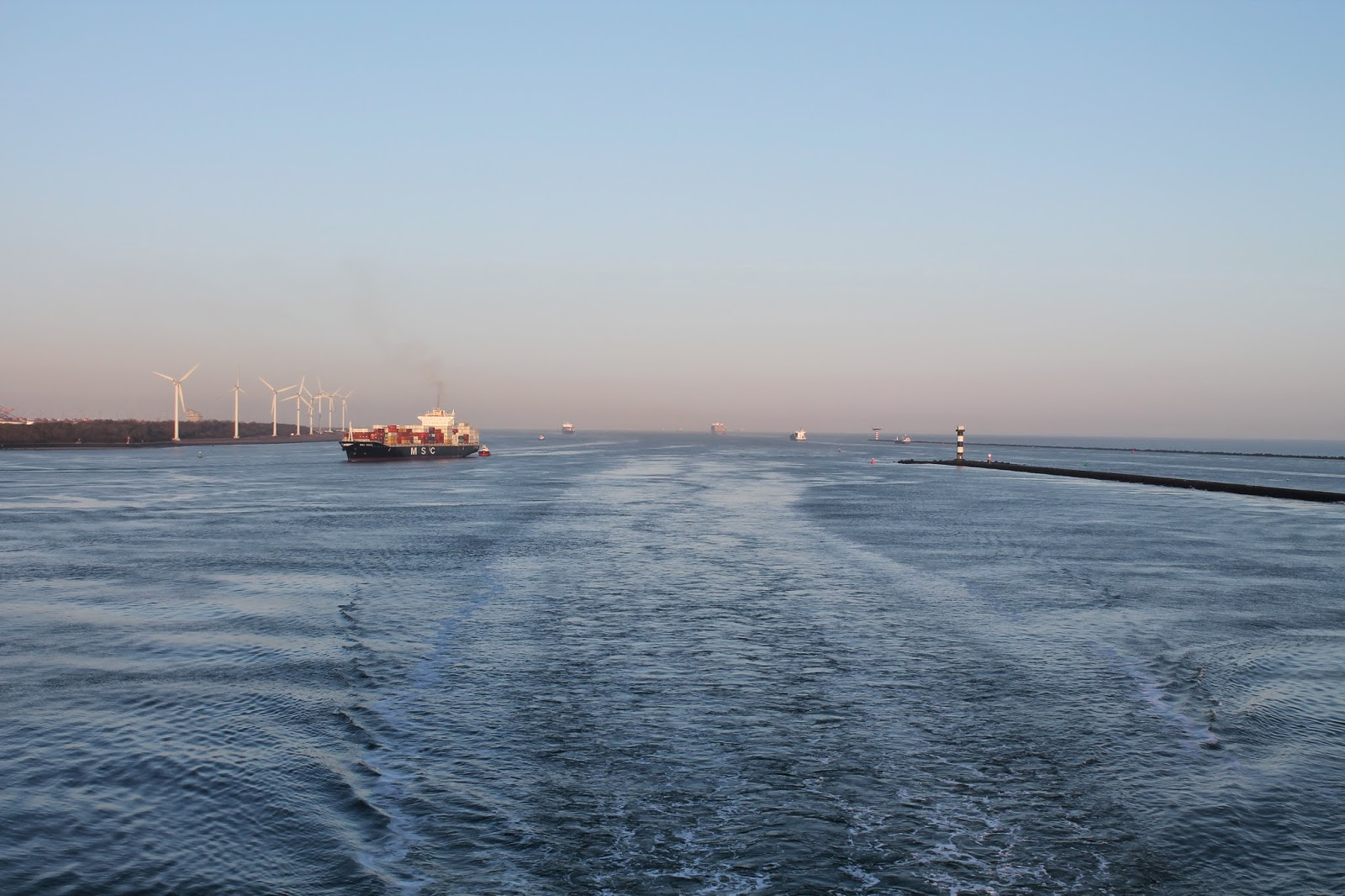 P&O Ferry to Amsterdam from Hull - Entering Rotterdam