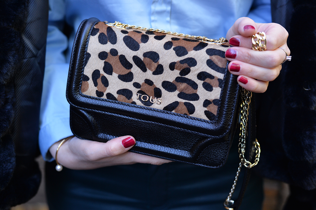 tous animal print bag outfit fashion