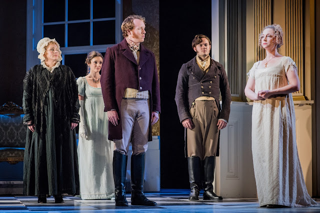 Jonathan Dove: Mansfield Park - The Grange Festival - Jeni Bern, Angharad Lyddon, Oliver Johnston, Nick Pritchard, Martha Jones  (Photo Robert Workman)