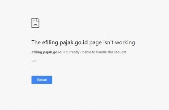 """Mendekati Deadline, Website DJP On-line Susah Diakses dan tercantum tulisan """" error 500 """""""