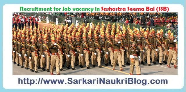 Naukri Vacancy Recruitment Sashastra Seema Bal SSB
