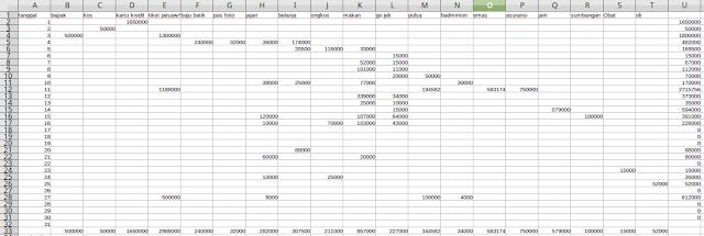 mencatat pengeluaran bulanan di excel