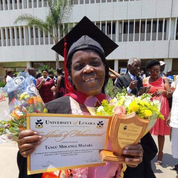 Zambian 73-year-old earns master's degree