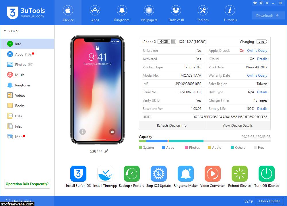 3uTools 2.29 - 免費iPhone管理備份還原工具 - 阿榮福利味 - 免費軟體下載