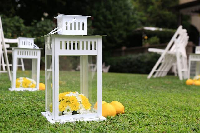 Come allestire matrimonio lanterne e limoni