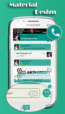 BBM Mod Android v2.6.0.30 Material Design Clone by CyanogenMod