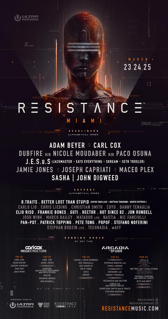 Ultra Miami revela el cartel de Resistance con presencia española ...