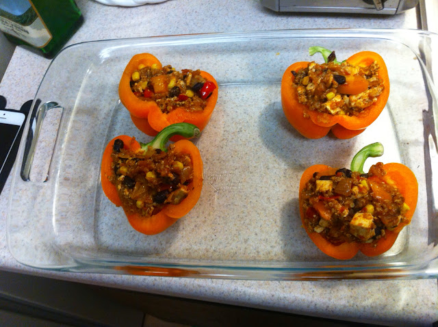 tofu stuffed bell pepper recipe