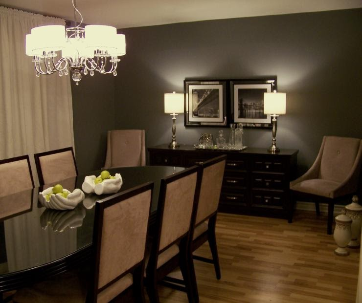 Dark Dining Room: Dark Wood Floors Wall Colors