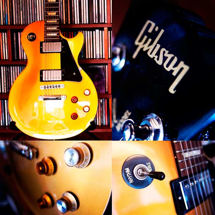 "Gibson Les Paul ""Joe Bonamassa"" signature edition propiedad del autor, exibida en 4Works Studio."