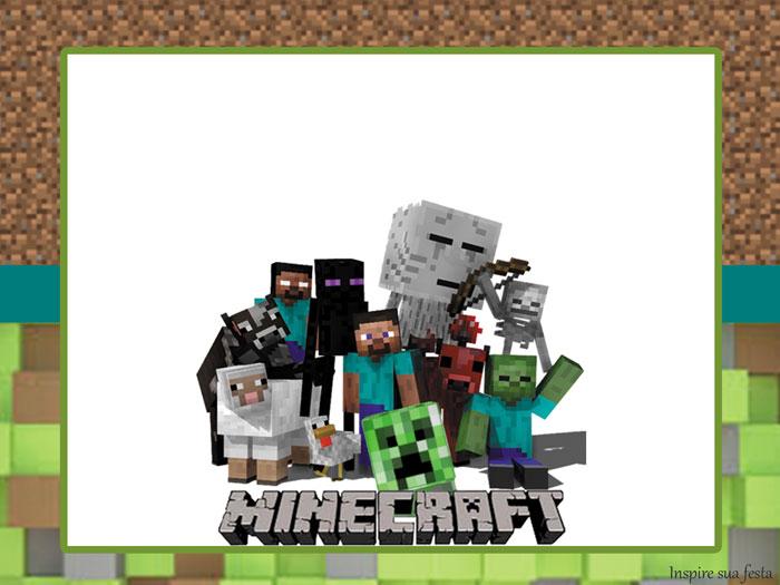 Fiesta De Minecraft Invitaciones Gorro Y Cono Para