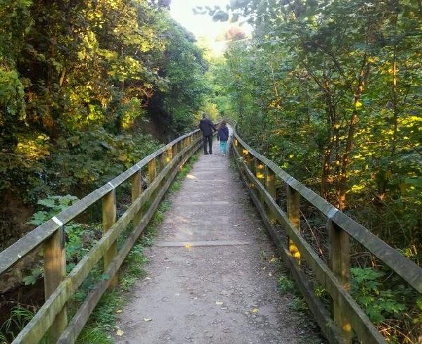 Paseo sobre el puente