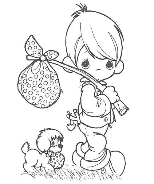 Precious Moments Coloring Pages | 360ColoringPages | 600x501