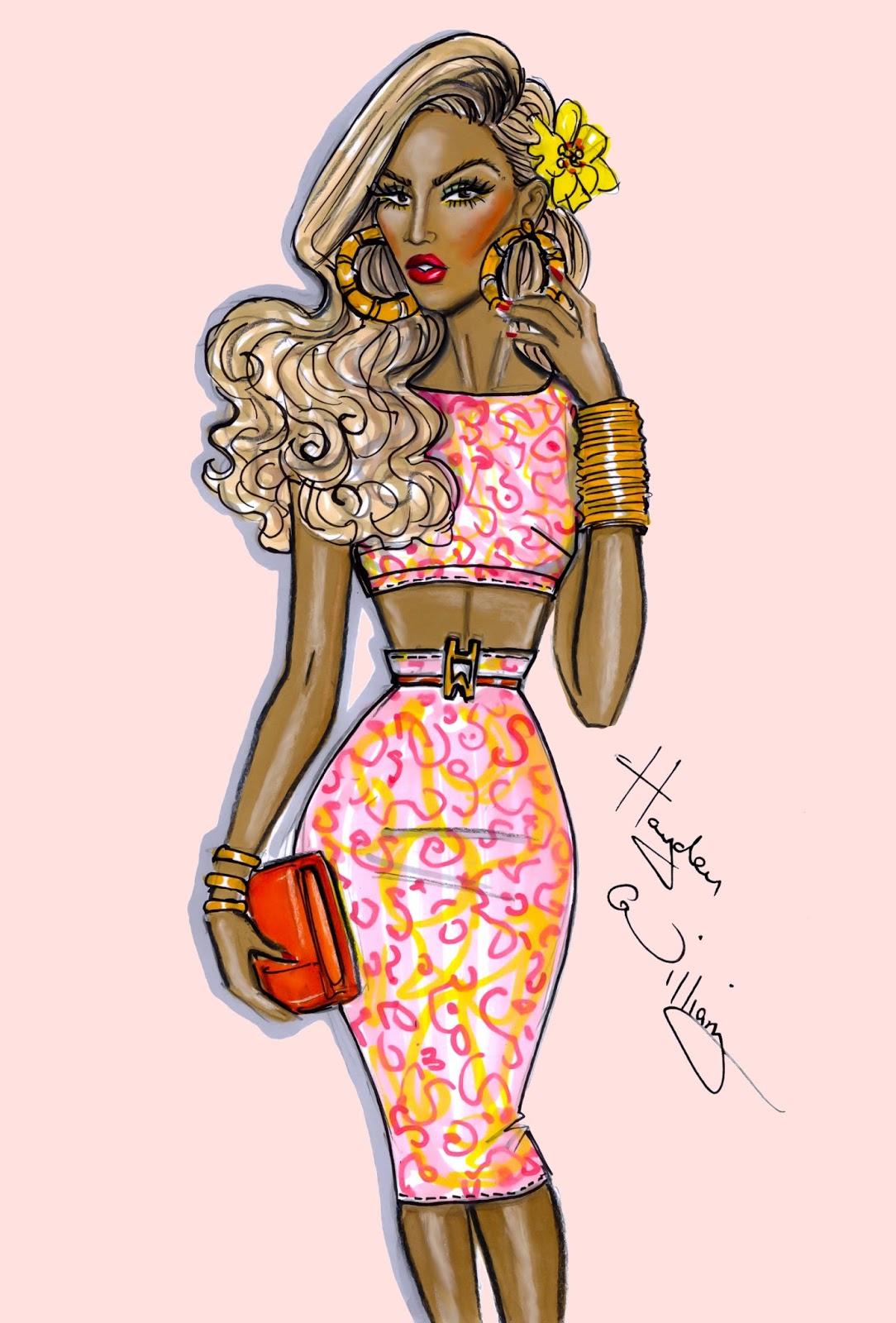 Fashion Illustration Royalty Free Stock Photo: Hayden Williams Fashion Illustrations: June 2013