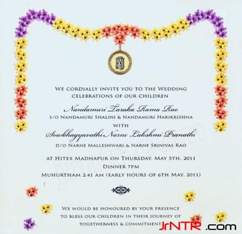 Ntr's Wedding Card Has A Classic Vintage Touch
