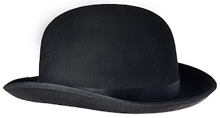 Steampunk black derby hat tall felt bowler