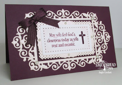 ODBD Custom Filigree Frames Dies, ODBD Custom Rectangles Dies, ODBD Faith Card Sentiments, ODBD Custom Ornamental Crosses Dies, Card Designer Angie Crockett