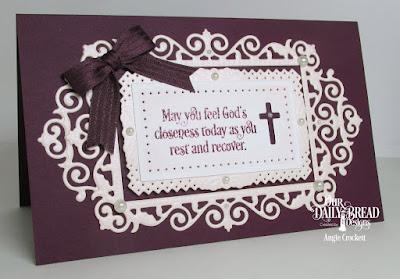 ODBD Custom Filigree Frames Dies, ODBD Custom Rectangles Dies, ODBD Faith Card Sentiments, ODBD Custom Ornamental Crosses Dies, Card Designer Angie Crockett