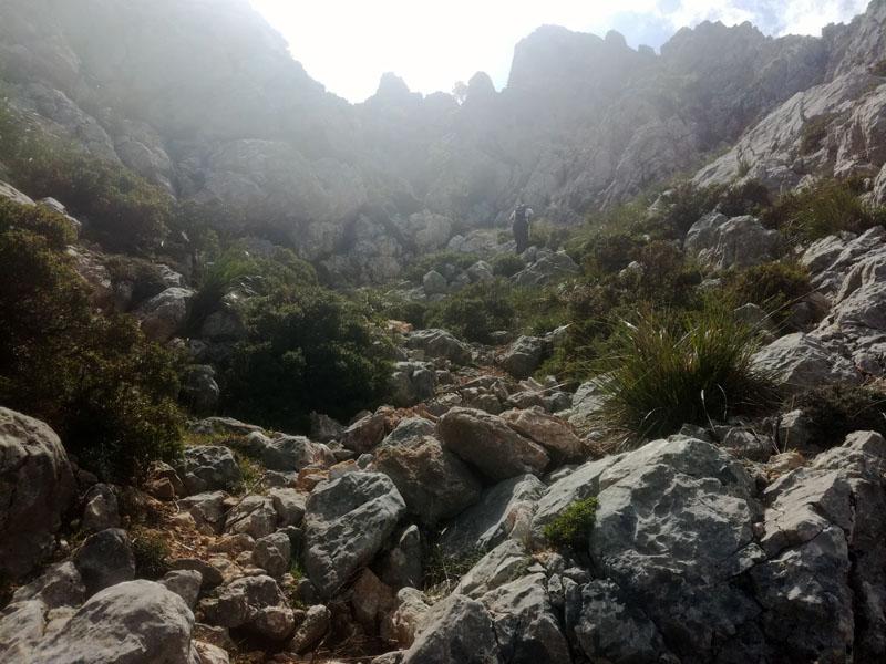 Salita verso el Puig de Galileo, Mallorca