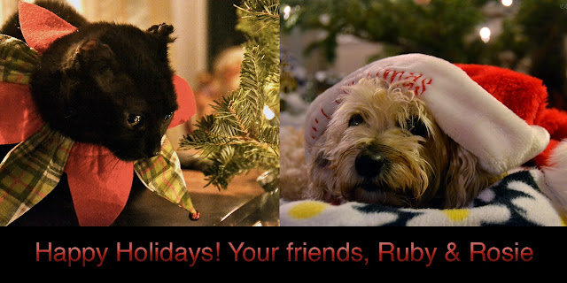Ruby and Rosie wish all their friends a happy holidays and new year