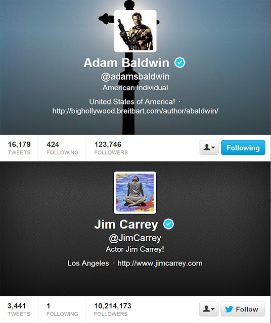 @adamsbaldwin and @JimCarrey