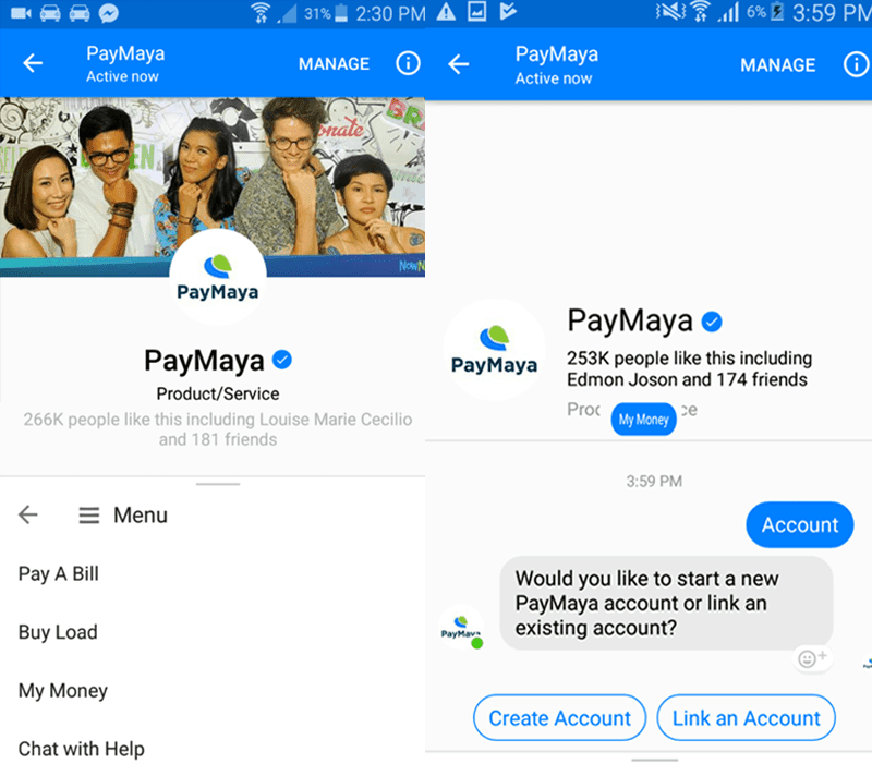 paymaya-4 How To Create Or Link A PayMaya Account From Messenger Technology