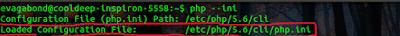 Edit CLI's 'php.ini' file