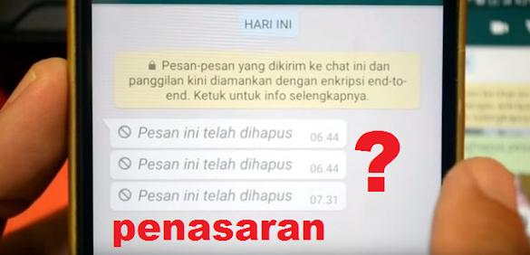 Ternyata Inilah Cara Membaca Pesan Whatsapp Yang Sudah Dihapus