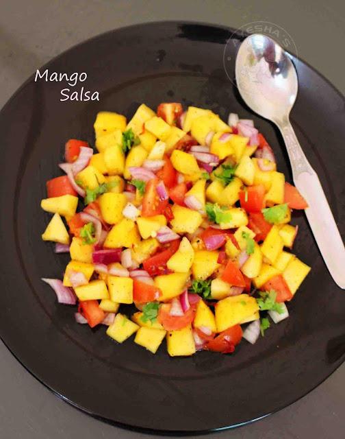 dipping mango salsa mango recipe dipping side dish