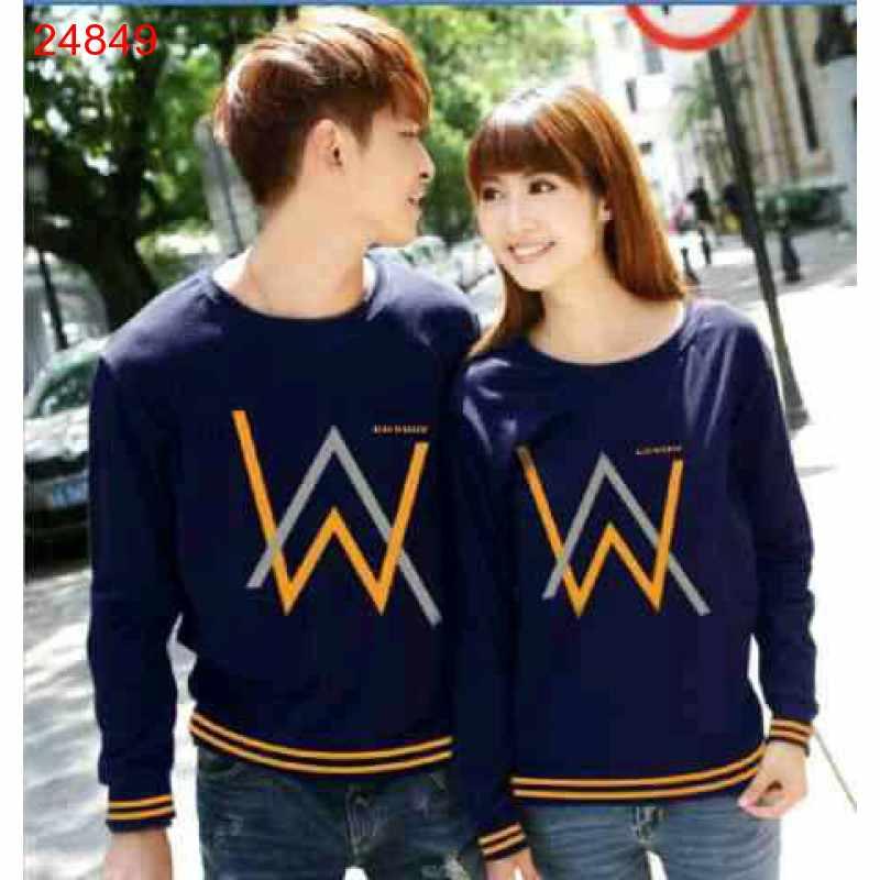 Jual Sweater Couple Sweater Alan Walker Rajut Navy - 24849