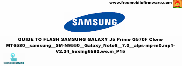 Guide To Flash Samsung Galaxy Note 8 N9550 Clone MT6580 Via SP Flashtool