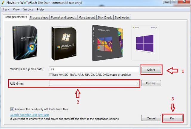Cara Membuat Flashdisk Menjadi Bootable (Tampilan Aplikasi WinToFlash)