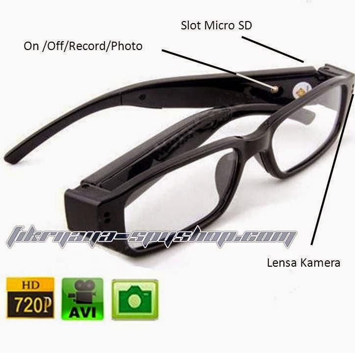 Spy cam kacamata bening HD 720 P