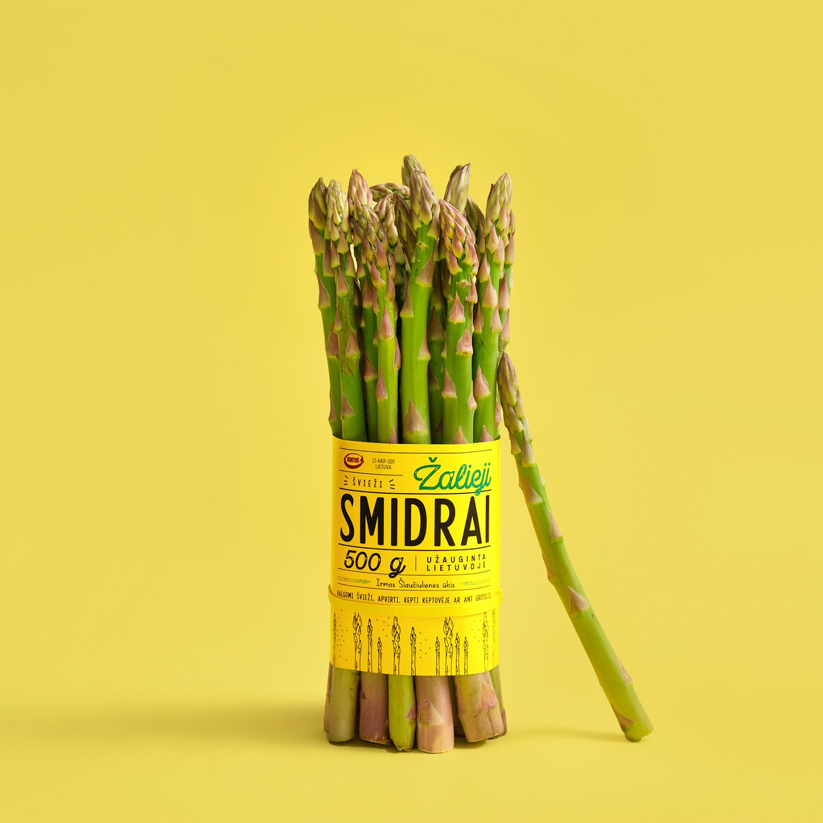 Green Asparagus On Packaging Of The World Creative Package Design Gallery