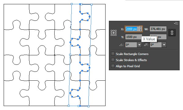 example of created base ready for shape builder tool