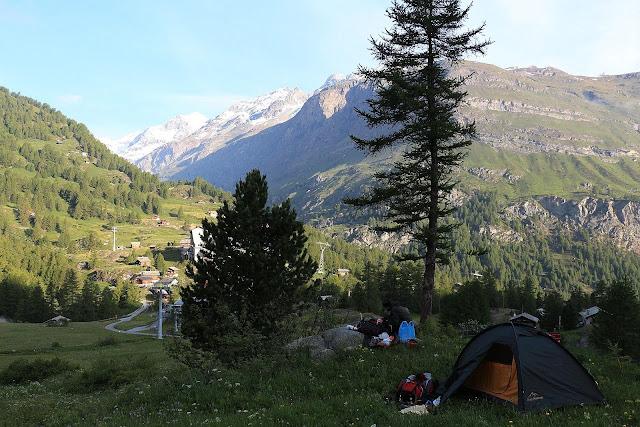Baza pod Zermatt