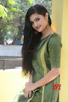 Akshitha cute beauty in Green Salwar at Satya Gang Movie Audio Success meet ~  Exclusive Galleries 032.jpg