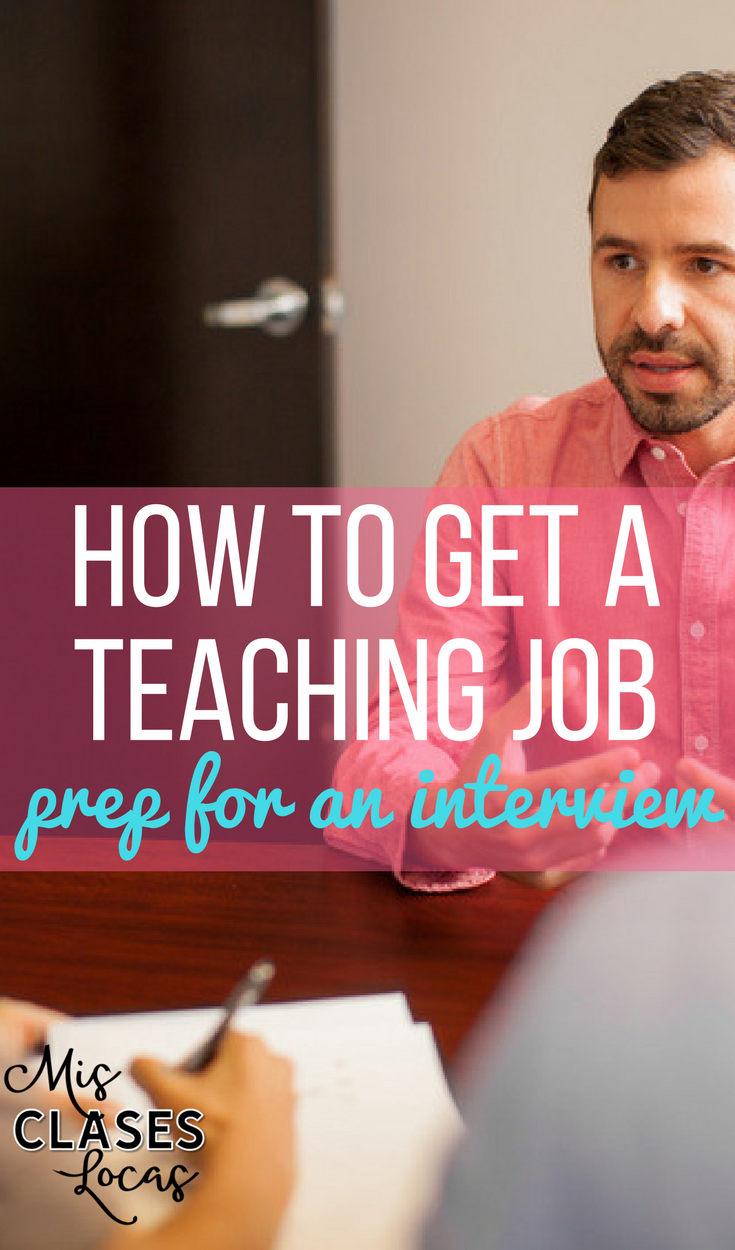 How to Get a Spanish Teaching Job -  Prepare for the Interview