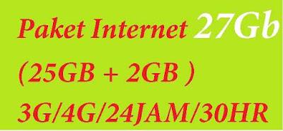 Promo Paket internet Murah sudah pastinya banyak di inginkan oleh pengguna Internet Paket Internet Telkomsel Murah Kuota  27Gb (25GB + 2GB VIDEOMAX) 3G/4G/24JAM/30HR