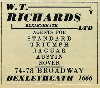 W T Richards (Bexleyheath) Ltd advert from Earls Court 1958 Motor Show - Daily Mail