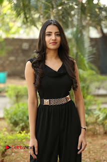 Telugu Actress Rukhsar Mir Stills in Black Long Dress at Aakatayi Movie First Look Launch  0088.JPG