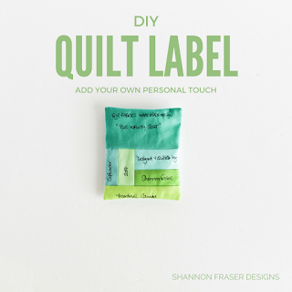 DIY Quilt Label | How to create a custom quilt label | Shannon Fraser Designs | Quilt Tutorial |