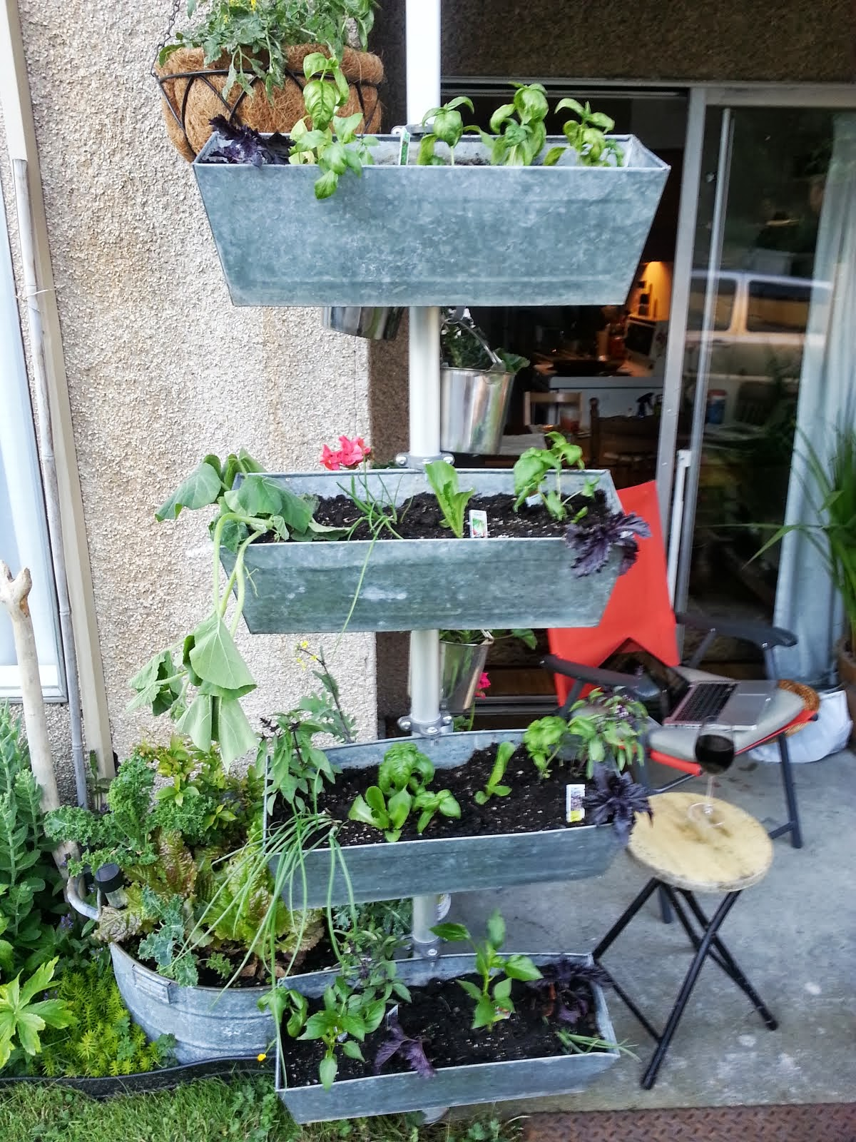 Balcony Planter Ikea Vertical Planter With Small Footprint Ikea Hackers