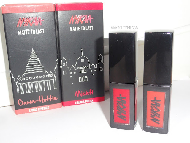 Nykaa Matte To Last Liquid Lipstick review: 03 Guwa-hottie and 10 Mishti