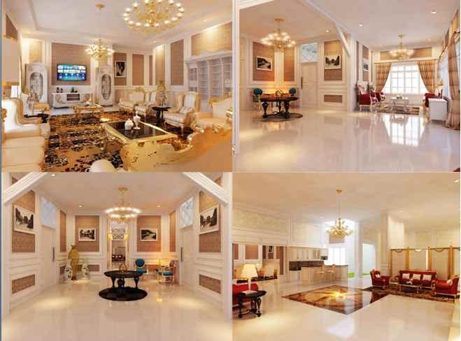 Desain minimalis Interior Ruangan Hunian Mewah