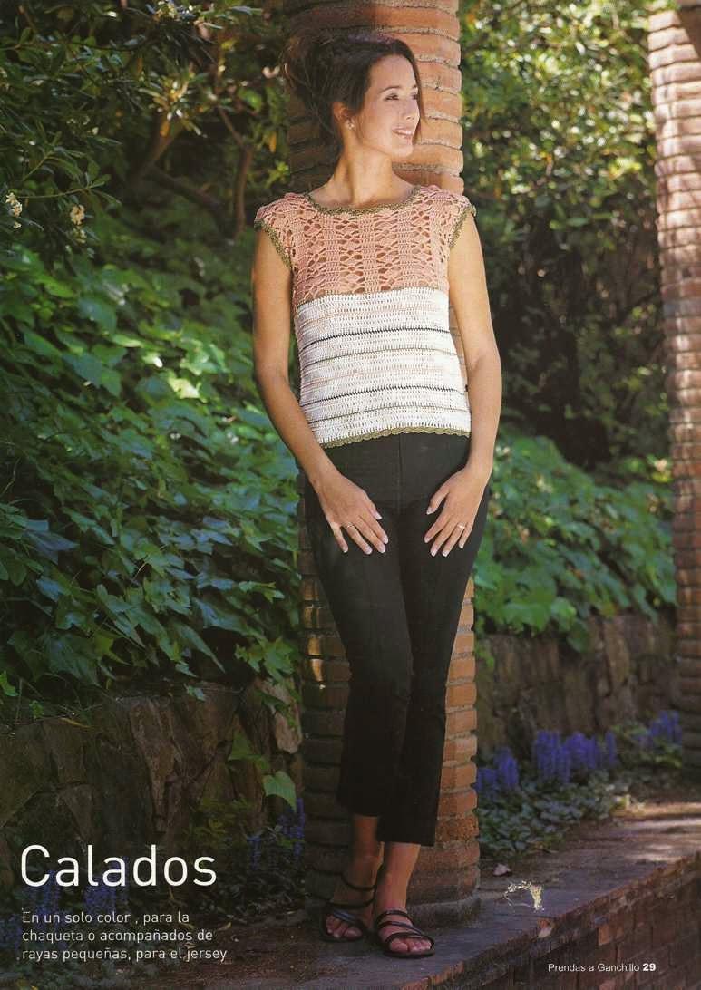 Jersey o Blusa de Fantasía a Crochet