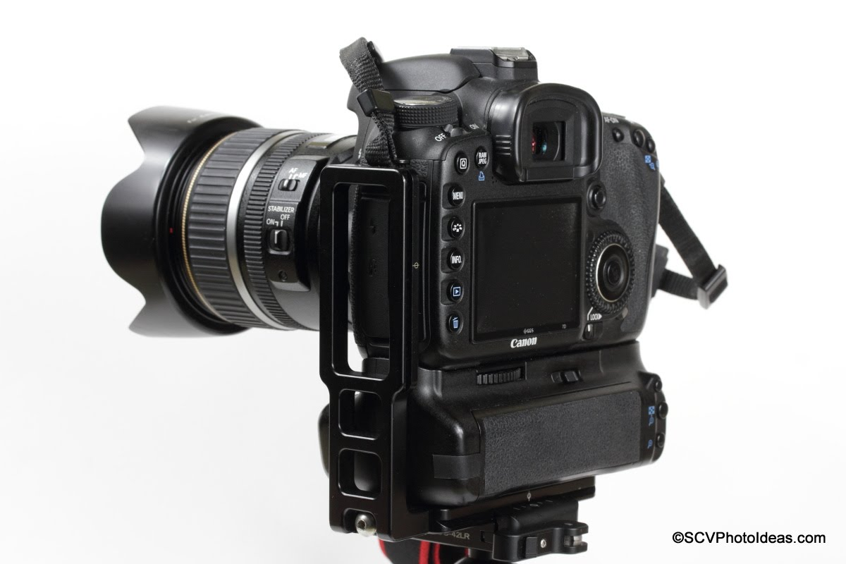 Hejnar L Bracket 44 on Gripped Canon EOS 7D - Landscape Flush