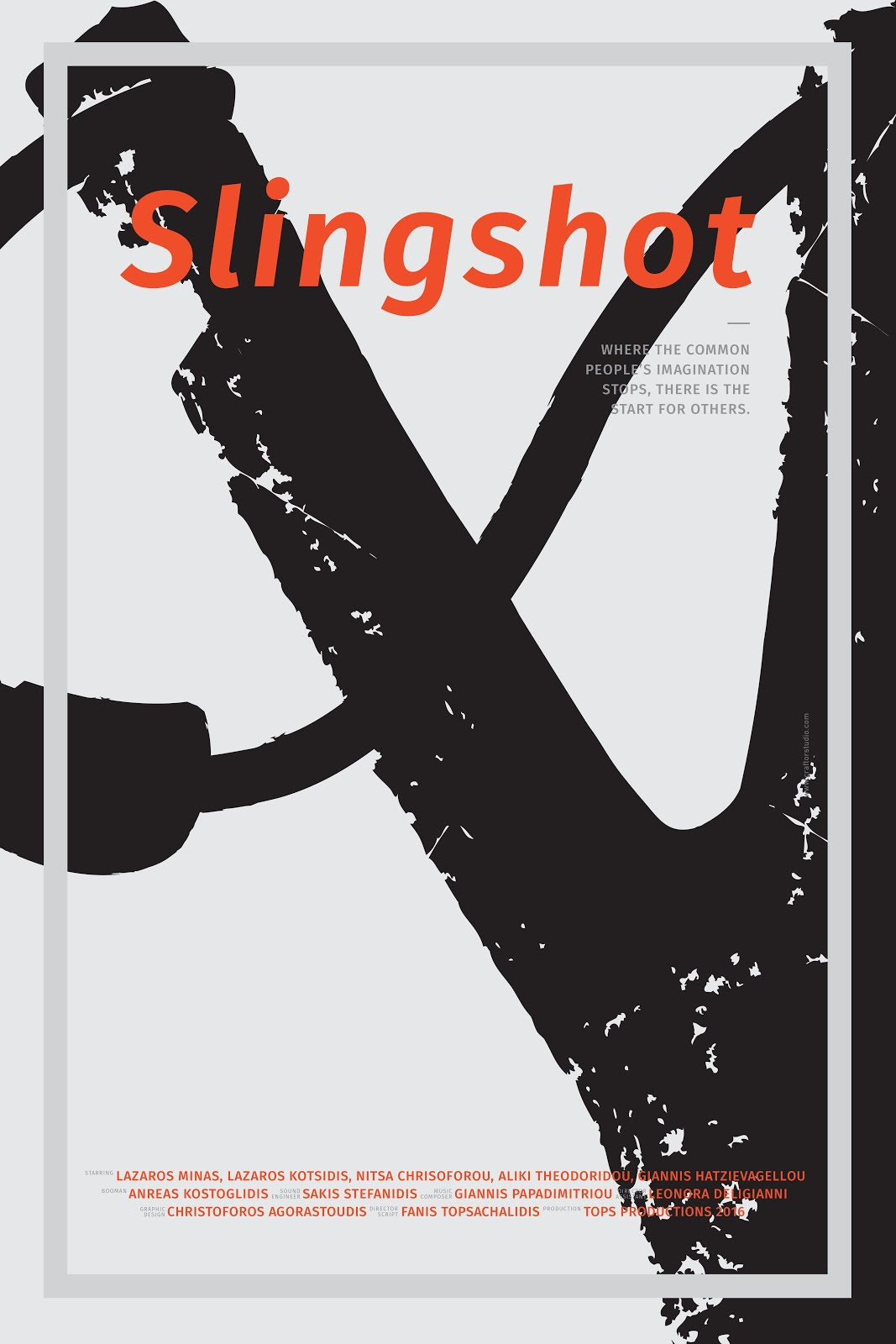 "Poster for Short film ""Slingshot"""
