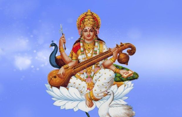 Why does Mother Saraswati wear Veena, why do she call her Goddess of knowledge?